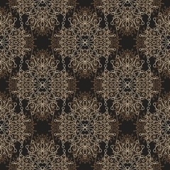 Boho brown seamless Pattern