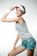 Young woman in sports clothing