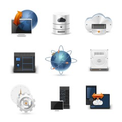networking vector icon set