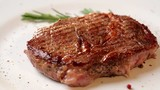 freshly cooked veal steak