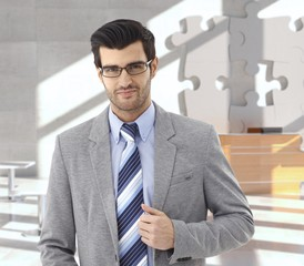 Businessman at office reception