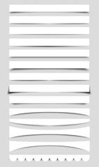 Collection of Vector Box Shadows