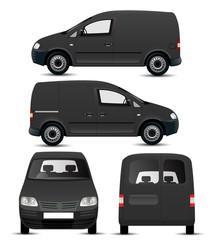 Black Van Mockup
