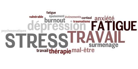 Nuage de mots : Stress