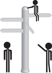 pointing to the right direction
