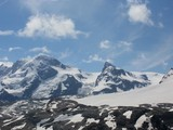 Breithorn 4164 m and Klein Matterhorn in Wallis Alps