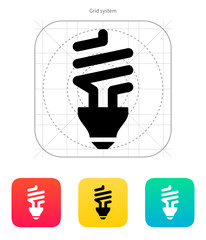 CFL bulb icon. Vector illustration.