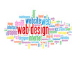 WEB DESIGN Tag Cloud (internet website homepage vector graphics)