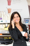 Successful business woman on coffe break