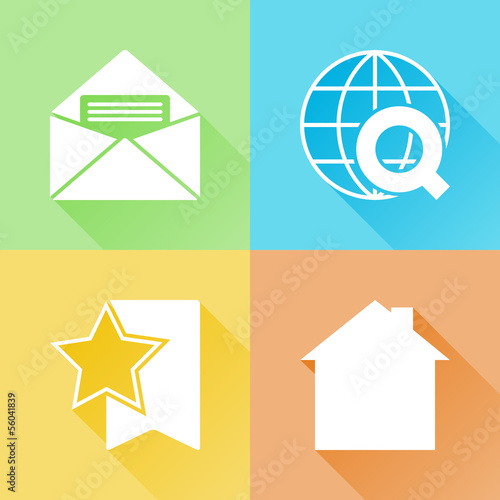 Web colorful flat icons