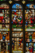 France, stained glass window in the Saint Martin church of Triel