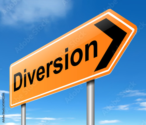 Diversion sign.