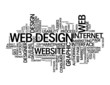 WEB DESIGN Tag Cloud (internet website homepage graphics vector)