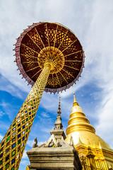 Wat PhraDhartHaribhunchai  lumphun province Thailand