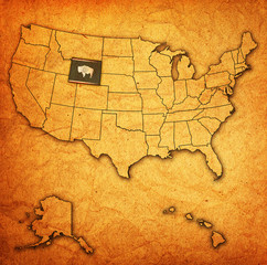 wyoming on map of usa