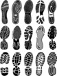 Постер, плакат: Shoe soles vector silhouettes collection