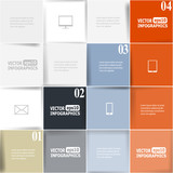 Modern business infographics options for banners, web, layouts e