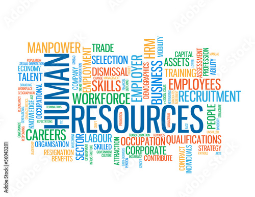 """HUMAN RESOURCES"" Tag Cloud (administration teamwork management)"