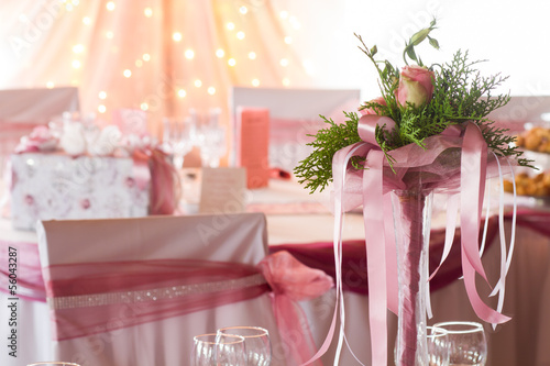 flower on the wedding table