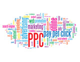 """PPC"" Tag Cloud (pay per click website marketing advertising)"