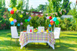 Prepared birthday table - 56044092