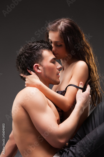 Fashion Couple, Dramatic image shot in studio