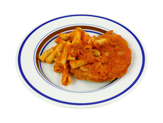 Chicken Pasta Marinara Angle View
