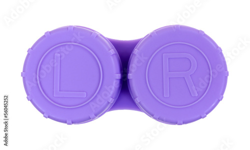 Contact Lense Case Lavendar Top View