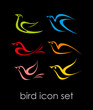 Bird icon set