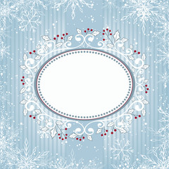 Blue holly card