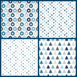 4 Seamless Pattern Christmas Blue