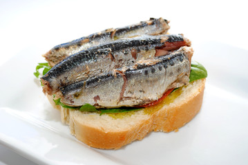 3 Sardines on Bread