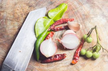 Thai cuisine ingredients
