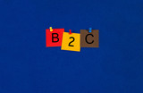 B2C - Business Sign poster