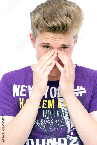 trauriger junger Mann