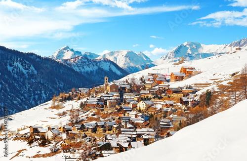 Papiers peints Alpes Village de Saint-Véran