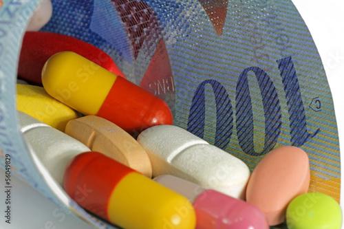 tabletten mit schweizerfranken