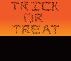 Trick or Treat Halloween Theme