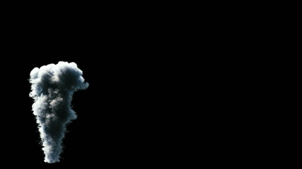 Smoke streaming on black background. (1080p HD, with alpha)