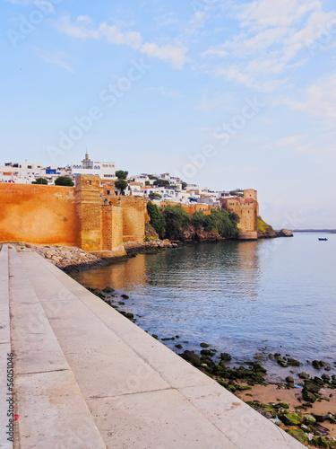 Ściany Kasbah Udayas w Rabat, Maroko