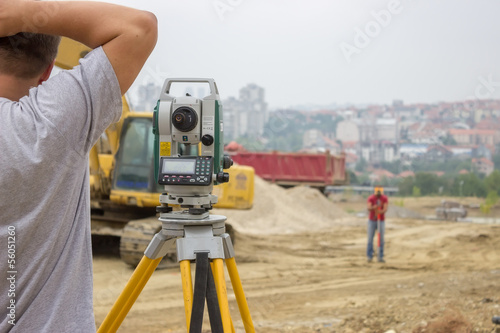 Land surveyors working 2