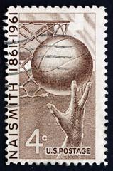 Postage stamp USA 1961 Basketball, James Naismith