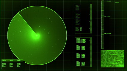 loopable green radar screen