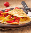 omelette with roasted peppers