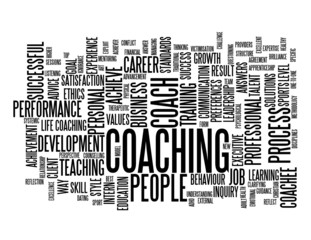 """COACHING"" Tag Cloud (training talent personal life development)"