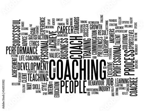 """COACHING"" Tag Cloud (training talent personal life development)"