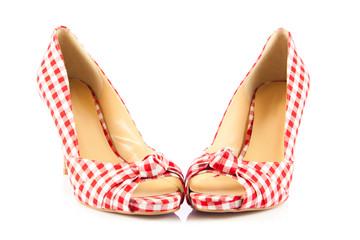 beautiful plaid high heels