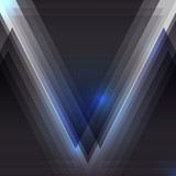 Abstract black triangular background