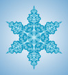 Snowflake six-sided pattern