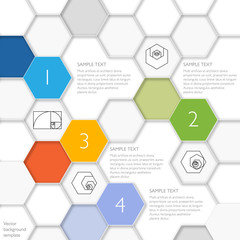 Honeycomb Structure Background 5 #Vector Template